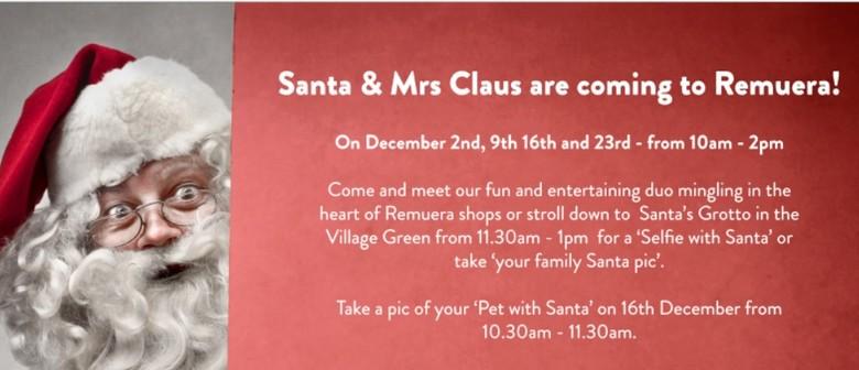 See Santa and Mrs Claus