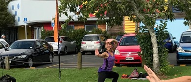 Outdoor Strike and Flow Yoga Class