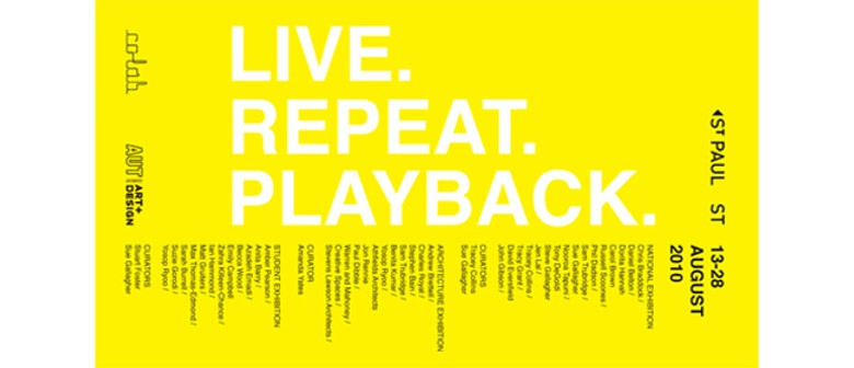 Live. Repeat. Playback. Symposium