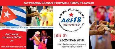 ACF18: 100% Flavour Aotearoa Cuban Festival 2018