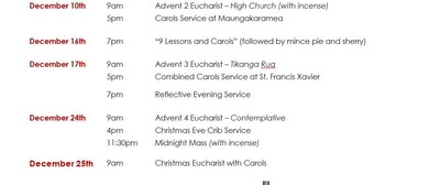 Advent and Christmas Services 2017