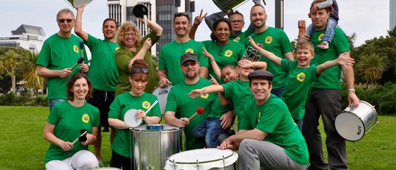 Samba Drumming Band Practice With Samba Ao Vento