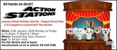 Puppet Pencil Pots - School Holiday Activity