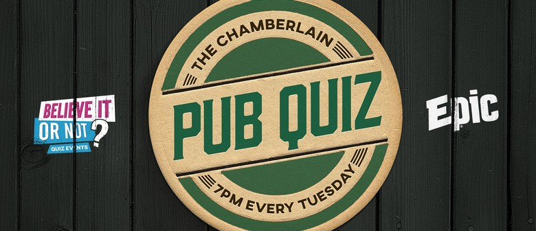 The Chamberlain Pub Quiz - Auckland - Eventfinda
