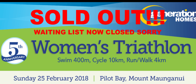 Generation Homes Women's Triathlon: SOLD OUT