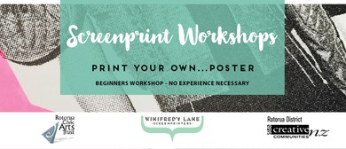 Screenprint Workshop: Print Your Own Poster!
