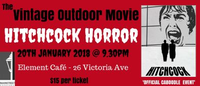 Vintage Outdoor Movie - Hitchcock Horror
