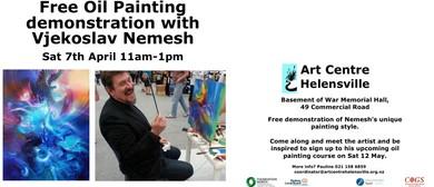 Oil Painting Demo With Vjekoslav Nemesh