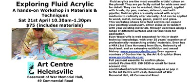 Fluid Acrylics Workshop With Evan Woodrufffe