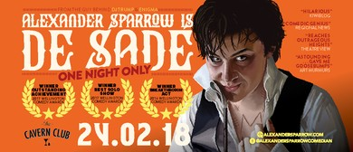 One Night Only: Alexander Sparrow is de Sade