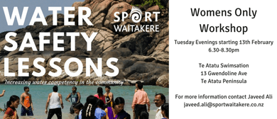 Sport Waitakere - Water Safety Lessons - Women Only Classes