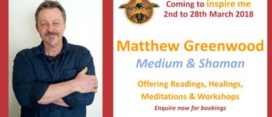 Shamanism Level One with Matthew Greenwood (2-day Workshop)