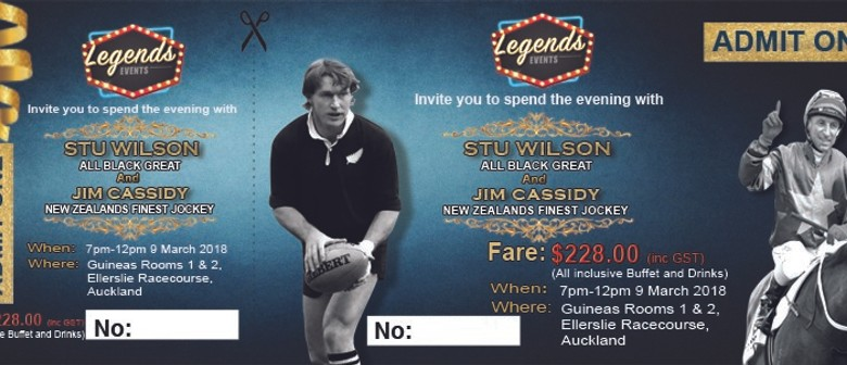 Auckland Cup Gala Dinner With Jim Cassidy and Stu Wilson