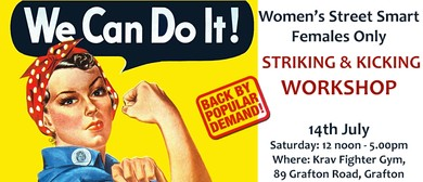 Women's Street Smart Striking and Kicking Workshop