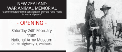 New Zealand War Animal Memorial Unveiling