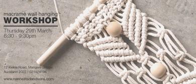 Craft Workshop – Little Macrame Wall Hanging