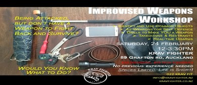 Krav Fighter Improvised Weapons Workshop