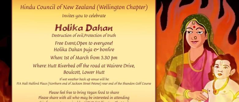 Holika Dahan Puja and Bonfire