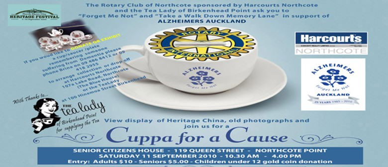Rotary Club of Northcote - Forget Me Not - Cuppa for a Cause