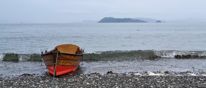 Watercolours for Youth - Rowboat In the Rain On Petone Beach