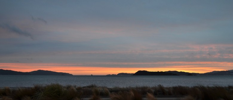 Watercolours for Youth - Autumn Sunset On Petone Beach