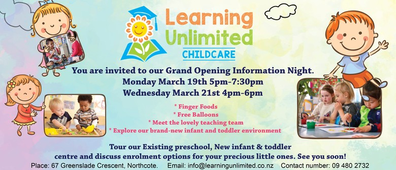 Brand New Childcare Information Evenings