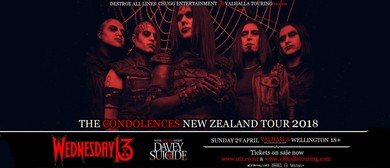 Wednesday 13 + Davey Suicide: The Condolences NZ Tour