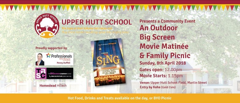 Community Outdoor Big Screen Movie and Family Picnic