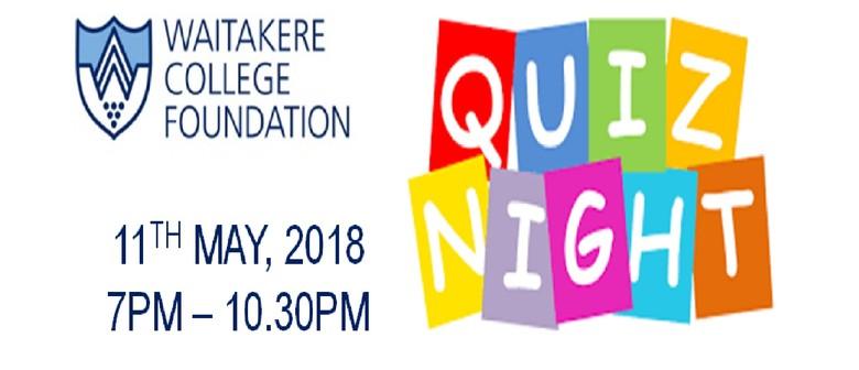 Waitakere College Foundation Fundraising Quiz