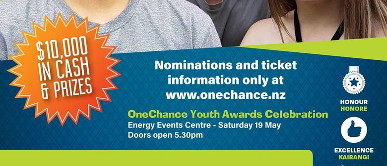 Nominations Close 8 April OneChance Youth Awards 2018