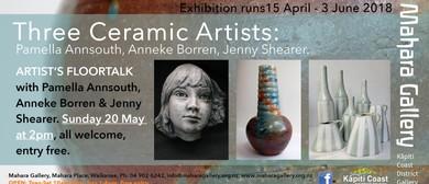 Artist's Floortalk: Three Ceramic Artists