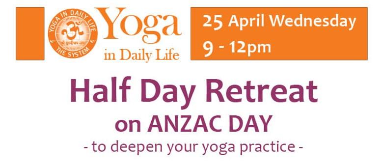 Half Day Yoga Retreat on ANZAC Day