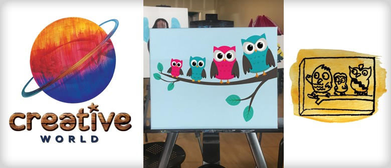 Out There Owls (Canvas Painting) – School Holiday Programme