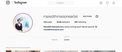Instagram for Artists Workshop With Meredith Marsone