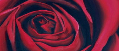 Wine and Paint Party - Red Rose Painting