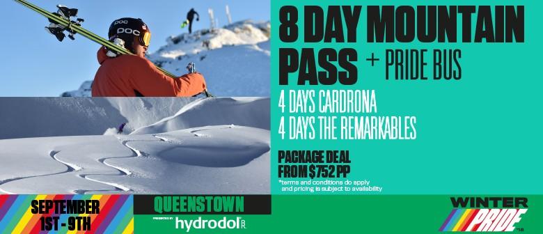 8 Day Mountain Pass + Pride Bus