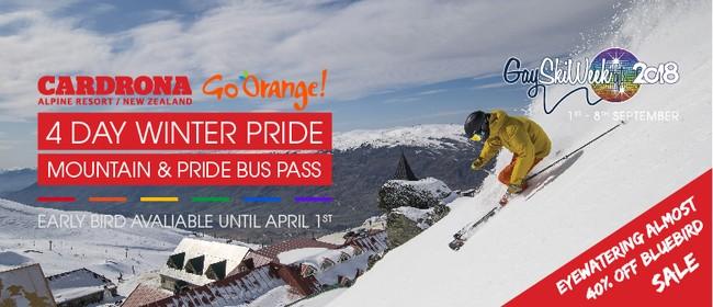 4 Day Cardrona Winter Pride Mountain Pass + Pride Bus