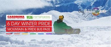 6 Day Cardrona and NZSki Mountain Pass + Pride Bus