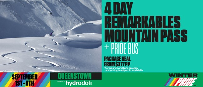 4 Day Remarkables Winter Pride Mountain Pass + Pride Bus