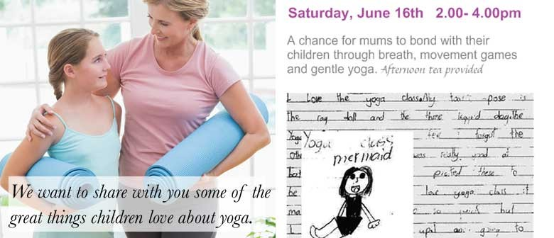 Yoga workshop for Mums and children