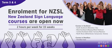 NZ Sign Language - Beginner 2