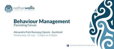 Nathan Wallis - Behaviour Management Parenting Forum