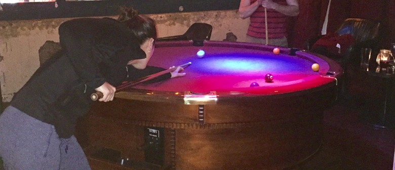 Round Pool Table Competition Wellington Eventfinda - Competition pool table