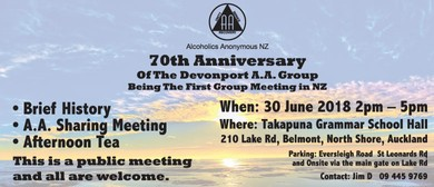 Alcoholics Anonymous NZ Celebrates 70-year Milestone