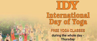 Classes During the International Day of Yoga