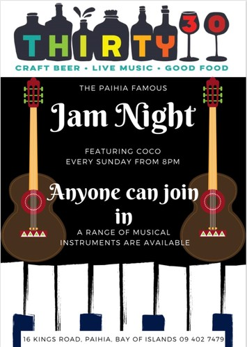 Jam Night - Paihia - Eventfinda