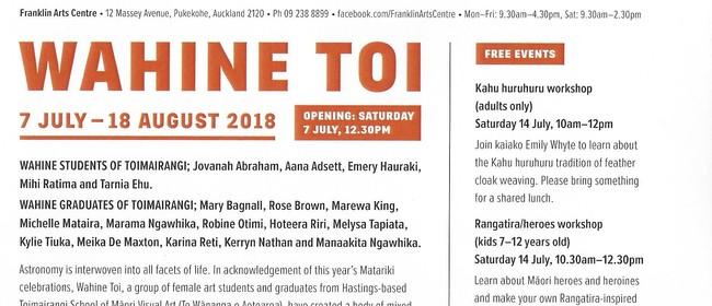 Wahine Toi Art Exhibition Matariki 2018