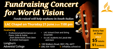 World Vision Fundraising Concert