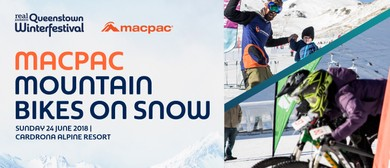 Macpac Mountain Bikes on Snow