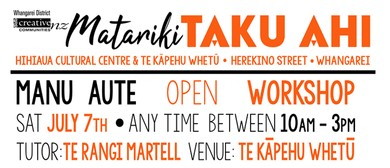 Taku Ahi Manu Aute - Open Workshop